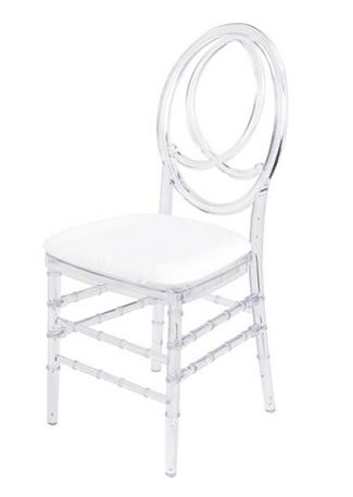 clear wedding chair rentals