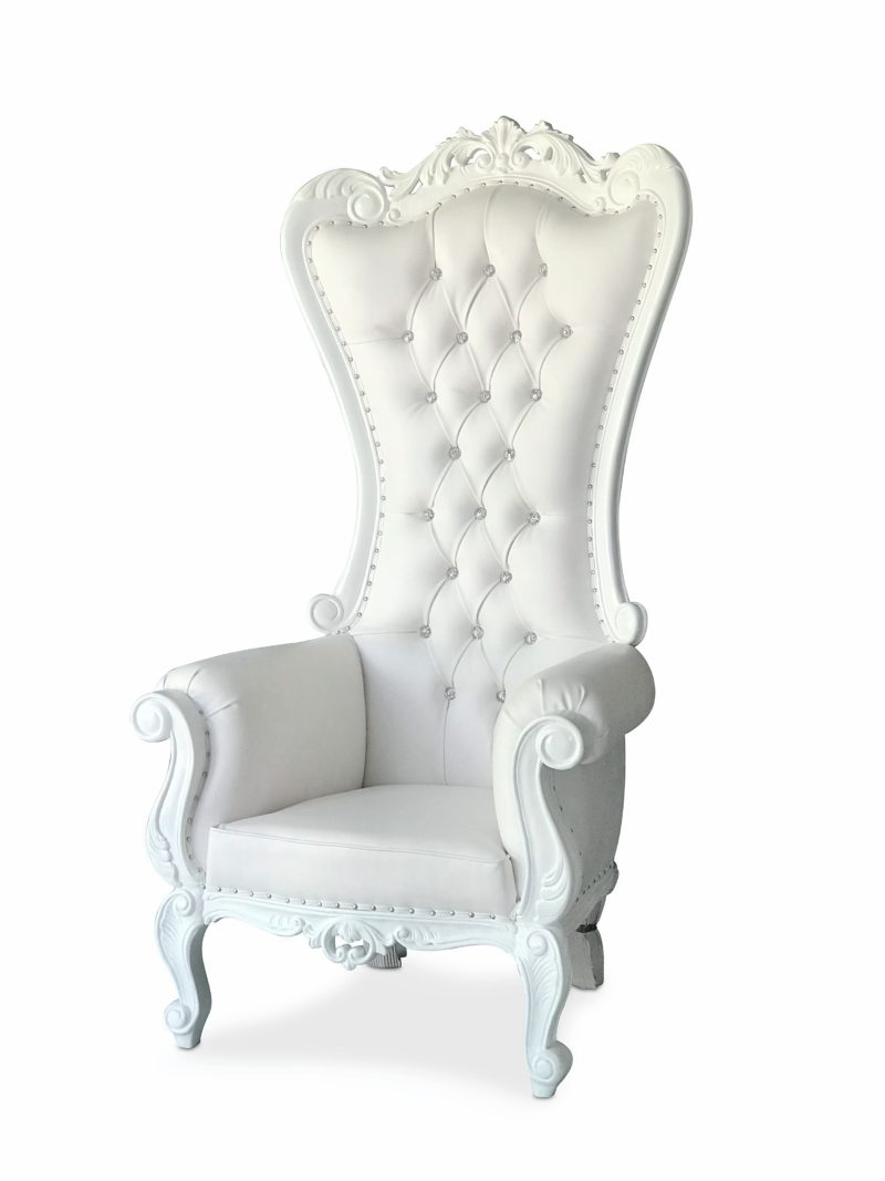 White Throne Chairs Fiestas Solutions Party Rental